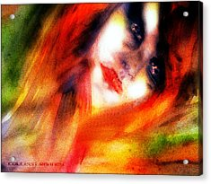 Fire Woman Acrylic Print