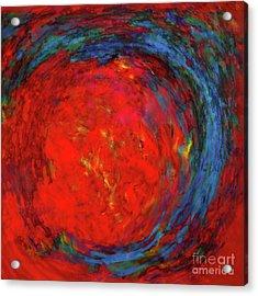 Fire Woman II Acrylic Print by Jane Biven