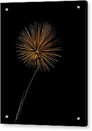 Fire Works Bursts Acrylic Print by Gary Langley