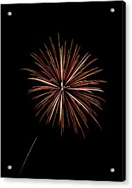 Fire Works Acrylic Print by Gary Langley