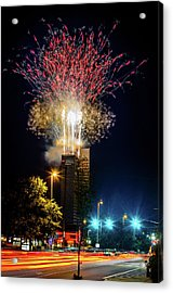 Fire Works In Fort Wayne Acrylic Print