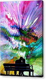 Fire Works In The Park Acrylic Print