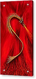 Fire Wyrmling Acrylic Print by David Junod