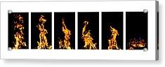 Fire X 6 Acrylic Print by Tomasz Dziubinski