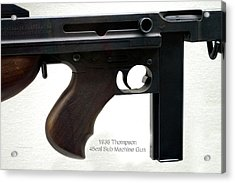 Firearms 1938 Thompson 45cal Sub Machine Gun Acrylic Print by Thomas Woolworth