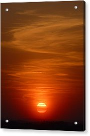 Fireball At Sunset Acrylic Print by Tim Mattox
