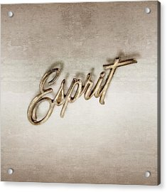 Firebird Esprit Chrome Emblem Acrylic Print