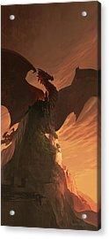 Fireborn Dragon Acrylic Print by Sedone Thongvilay