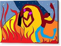 Firedance Acrylic Print