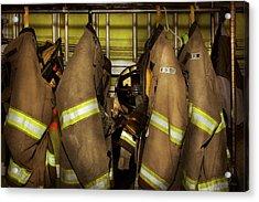 Firefighter - Bunker Gear Acrylic Print