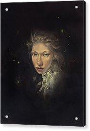 Firefly Fairy Acrylic Print by Lee Lynch