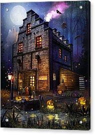 Firefly Inn Halloween Edition Acrylic Print