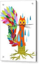 Firefox Acrylic Print by Anne Vasko