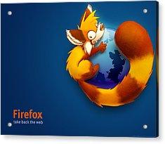 Firefox Take Back Web Acrylic Print