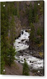 Acrylic Print featuring the photograph Firehole Canyon by Steve Stuller