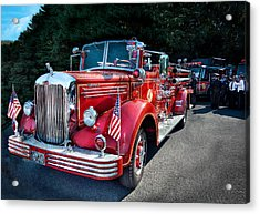 Fireman - 1949 And It Still Runs  Acrylic Print by Mike Savad