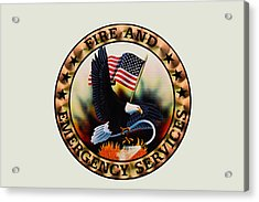 Fireman - Fire And Emergency Services Seal Acrylic Print by Paul Ward