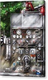 Fireman - Fireman's Controls Acrylic Print by Mike Savad