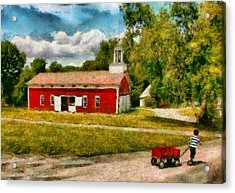 Fireman - I Want To Be A Firefighter Acrylic Print by Mike Savad