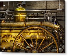 Fireman - Piano Engine - 1855  Acrylic Print by Mike Savad