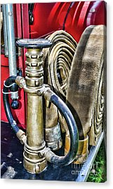 Fireman Its All About The Nozzle Acrylic Print