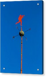 Fireman Weather Vane Acrylic Print