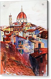 Firenza Doumos Italy Acrylic Print by Therese Fowler-Bailey