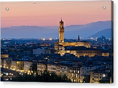 Firenze At Sunset Acrylic Print