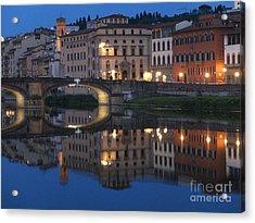 Firenze Blue I Acrylic Print by Kelly Borsheim