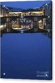Firenze Blue IIi Acrylic Print by Kelly Borsheim