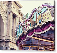 Acrylic Print featuring the photograph Firenze Carousel by Melanie Alexandra Price