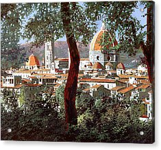Firenze Acrylic Print by Guido Borelli