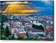 Firenze Sunset Acrylic Print