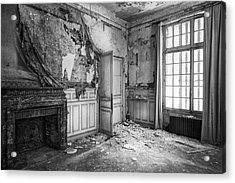Fireplace In Decay -abandoned Building Acrylic Print by Dirk Ercken