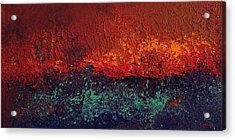 Firestorm Acrylic Print by Michael Lewis