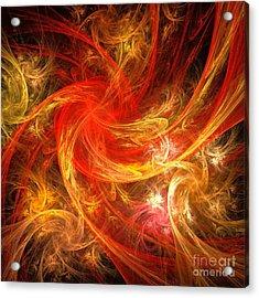 Firestorm Acrylic Print by Oni H
