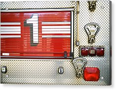 Firetruck Detail I Acrylic Print by Kicka Witte - Printscapes