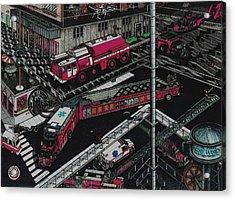 Firetrucks Acrylic Print
