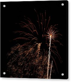 Firew0rks From A Boat - 12 Acrylic Print