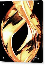 Firewater 1 - Buy Orange Fire Art Prints Acrylic Print by Sharon Cummings