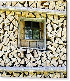 Firewood Acrylic Print by Frank Tschakert