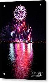 Fireworks 1 Acrylic Print by Butch Lombardi