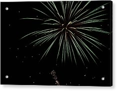 Acrylic Print featuring the photograph Fireworks 11 by Ron Read