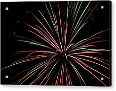 Acrylic Print featuring the photograph Fireworks 2 by Ron Read