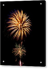 Acrylic Print featuring the photograph Fireworks 4 by Bill Barber