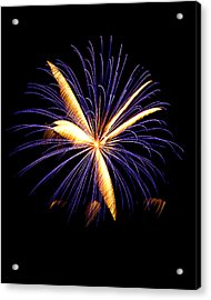 Acrylic Print featuring the photograph Fireworks 6 by Bill Barber