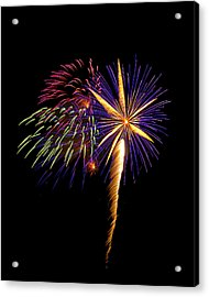 Acrylic Print featuring the photograph Fireworks 8 by Bill Barber