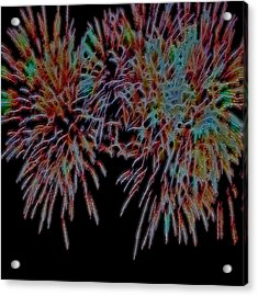 Fireworks Abstract Acrylic Print