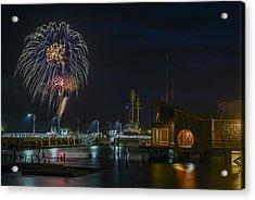 Fireworks And 17th Street Docks Acrylic Print