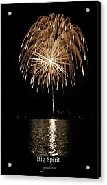 Fireworks At Big Spirit Lake Acrylic Print